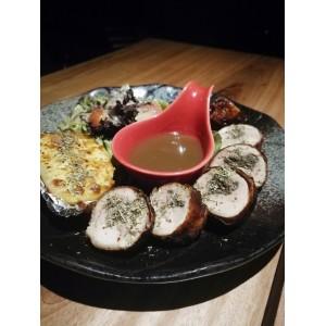 Mushrooms Chicken Roll