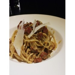 2 Cheese Carbonara With Truffle Oil Pasta