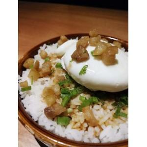 Pork Lard Rice With Liquid Yoke Egg